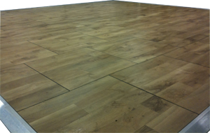 Wood Effect Outdoor Dance Floor
